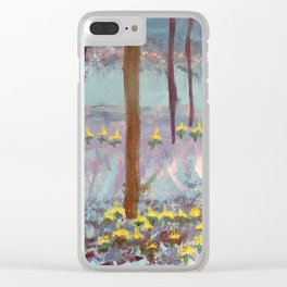 Beauty in the woods - Painting by young artist with Down syndrome Clear iPhone Case