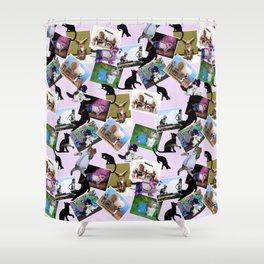 Collage of  Cat Photographs Shower Curtain