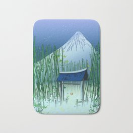 A moonless night Bath Mat