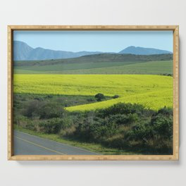 Rolling Hills and Meadows Landscape, South Africa Serving Tray