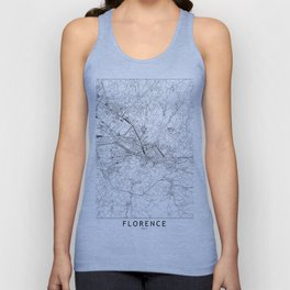 Florence White Map Unisex Tank Top