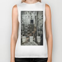 industrial Biker Tanks featuring Industrial  by Novella Photography