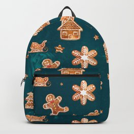 Gingerbread Cookies in Blue Backpack