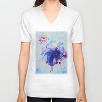 fairy tale V-neck T-shirts featuring Fairy Tale by Maria Lozano - Art