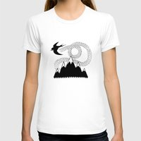 swallow T-shirts featuring Mountain Swallow by Satok