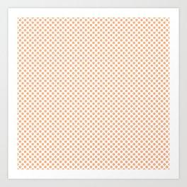 Peach Cobbler Polka Dots Art Print