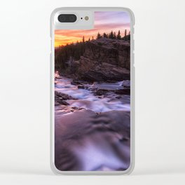 Falls at first light Clear iPhone Case
