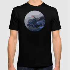 Rainy Day Activities MEDIUM Black Mens Fitted Tee
