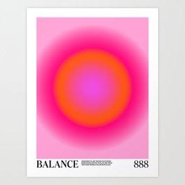Gradient Angel Numbers: Balance Art Print