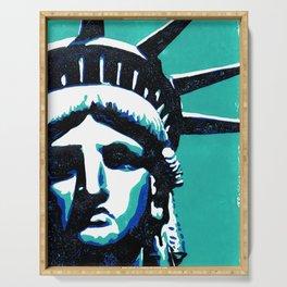 Lady Liberty Serving Tray
