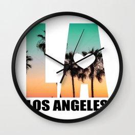 Los Angeles LA Palms Venice Beach Beach Gift Wall Clock