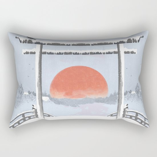 Sundown on the reserve Rectangular Pillow