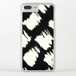 Tribal Brushed Dot Clear iPhone Case
