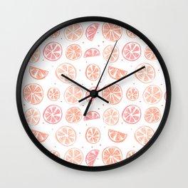 Paloma Grapefruit White Wall Clock