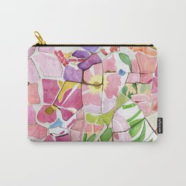 Mosaic Watercolour Carry-All Pouch