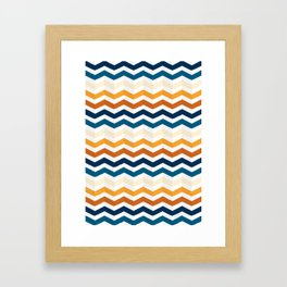Zigzag Perspective Framed Art Print