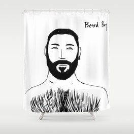 Beard Boy: Emilio 2 Shower Curtain