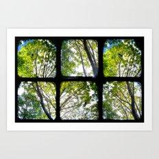 Look Through My Window - Through The Viewfinder (TTV) - Polyptych Art Print
