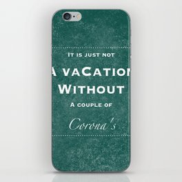 Vacation Confession #1 iPhone Skin