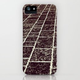 texture of the old stone paving iPhone Case