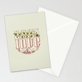 The Greatest of These Is Love (Color Variant)  Stationery Cards