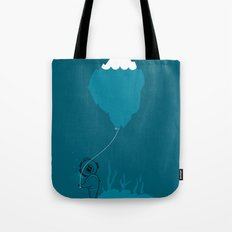The Diver and his Balloon Tote Bag