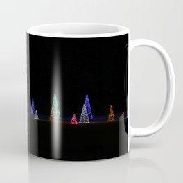 Illuminated Christmas Trees at Night Coffee Mug