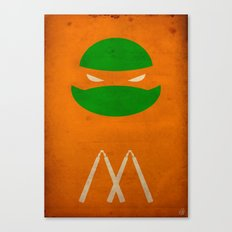 TMNT Mikey poster Canvas Print