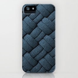 Expressions Blue Chunky Weave  iPhone Case
