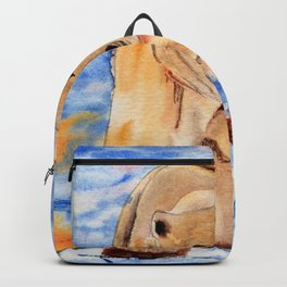 ours blanc Backpack