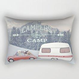 NEVER STOP EXPLORING - CAMPERS GONNA CAMP Rectangular Pillow