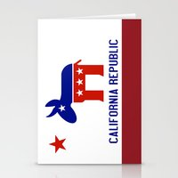 political Stationery Cards featuring Political California Republic Democrat by NorCal