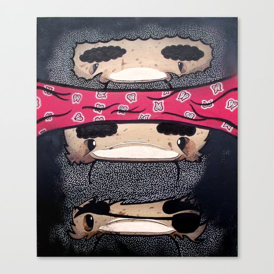 Pirate Totem. Canvas Print
