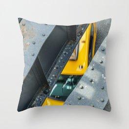 New York City Cab Throw Pillow