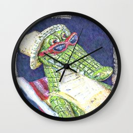 Lounging Alligator Wall Clock