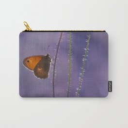 Orange butterfly and pink poppies Carry-All Pouch