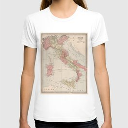 Vintage Map of Italy (1883) T-shirt