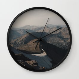 Mountain Layers in the Wyoming Wilderness Wall Clock