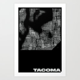 TACOMA, WA (NIGHT) Art Print