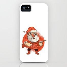 Santa & His Gun iPhone Case