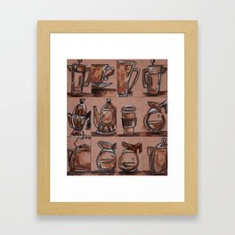 Little Coffee Breaks Collection Framed Art Print