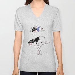 Yoga girl - Bakasana - crow pose - Scarlet Adrianne Unisex V-Neck