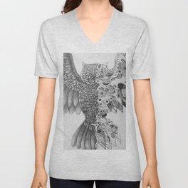 Steampunk Owl Unisex V-Neck