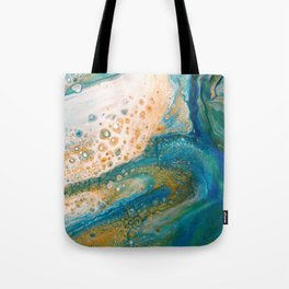 Panning for Gold - Abstract Acrylic Art by Fluid Nature Tote Bag