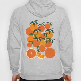 Orange Harvest - White Hoody