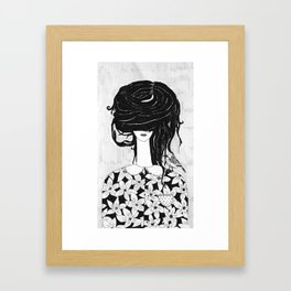 I will cover my ears...until you find the right words Framed Art Print