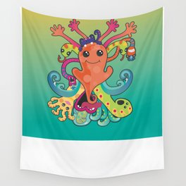 Monsters Revisited Wall Tapestry