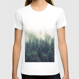 Foggy Winter Forest T-shirt