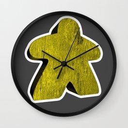 Giant Yellow Meeple Wall Clock