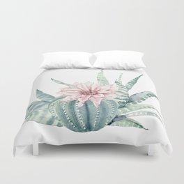 Petite Cactus Echeveria Duvet Cover